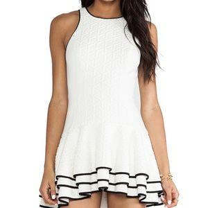 Cameo You Move Dress White with Black Trim Small